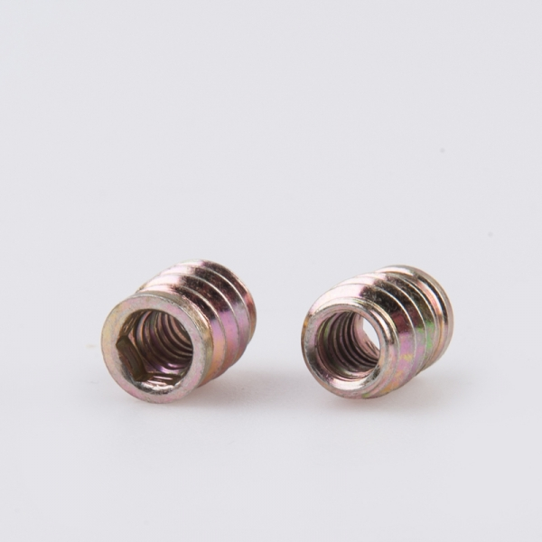 carbon steel zinc coated wood furniture insert nut