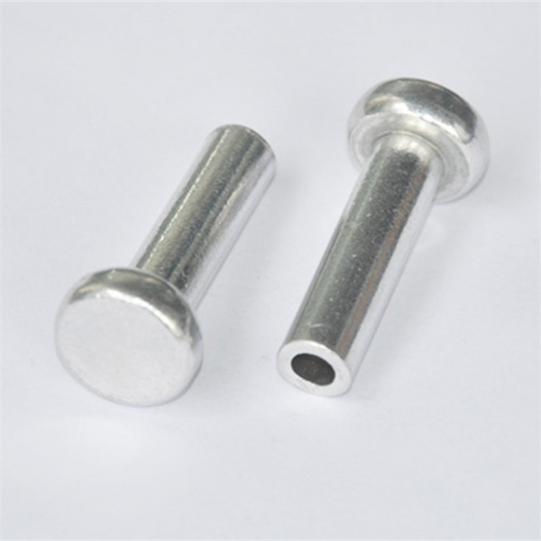 Round head aluminum material tubular rivet for roller skates