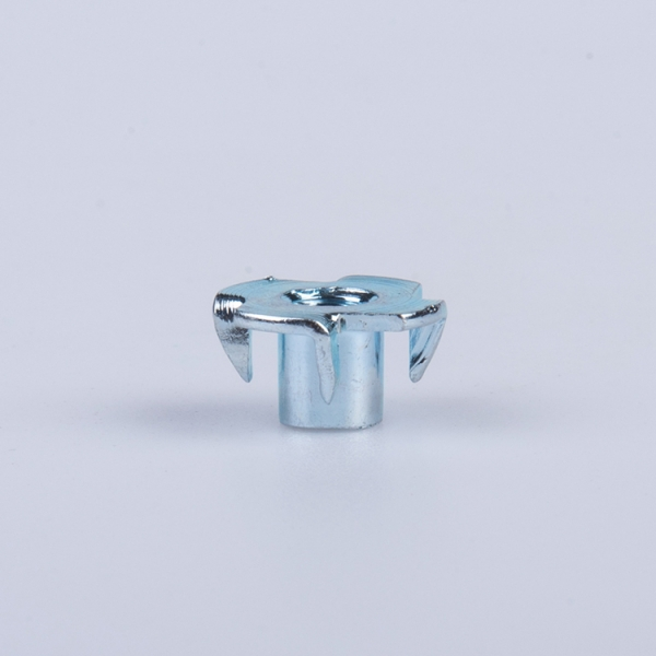 factory price carbon steel galvanized four prong T nut