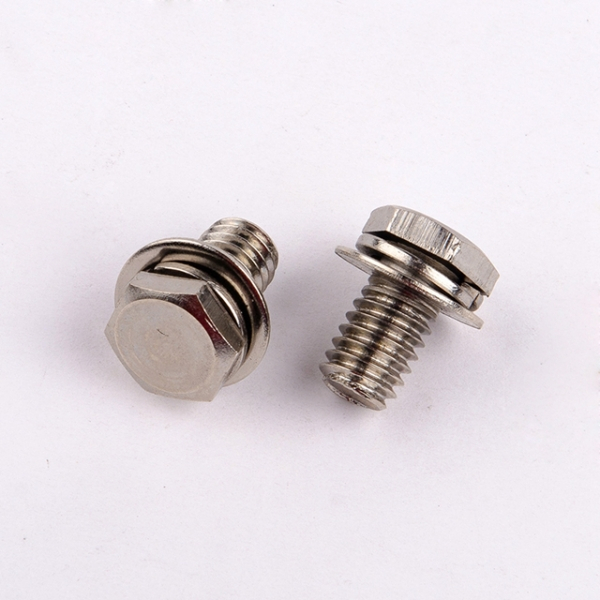 Taifeng custom high quality stainless steel hex head sems screw with washer