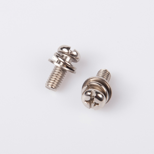 Machine Threaded Cross Recess Combined Screw with Round Washer