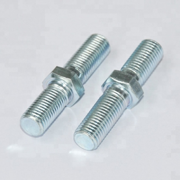 Furniture fixing wood dowel double threaded screw for door handle
